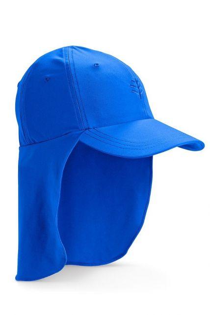 Coolibar---UV-Sonnenkappe-mit-Nackenschutz-für-Kinder---Meeresblau