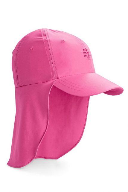Coolibar---UV-Sonnenkappe-mit-Nackenschutz-für-Kinder---Pink