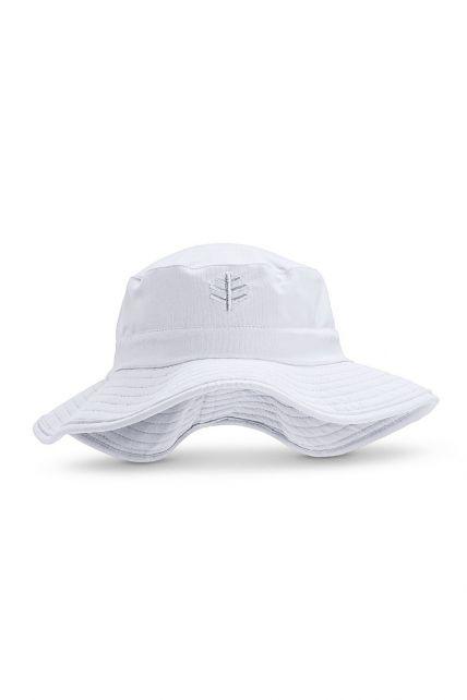 Coolibar---UV-Bucket-Hut-für-Kinder---Wasserabweisend---Strahlendes-Blau