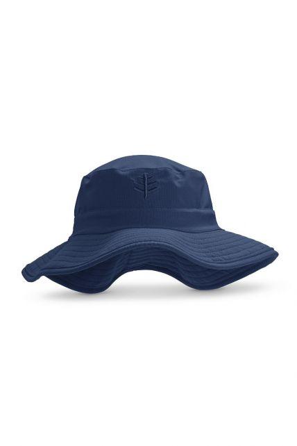 Coolibar---UV-Bucket-Hut-mit-breiter-Krempe-für-Kinder---Surfs-Up---Navy