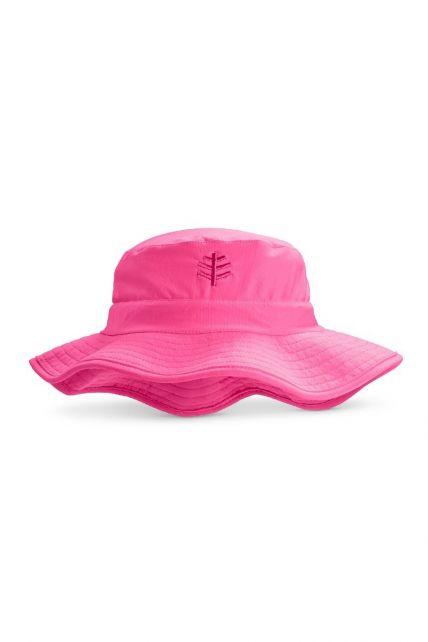 Coolibar---UV-Bucket-Hut-für-Kinder--Wasserabweisend---Pink