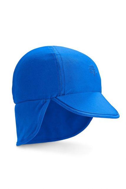 Coolibar---UV-Sonnenkappe-für-Babys-mit-Nackenschutz---Strahlendes-Blau