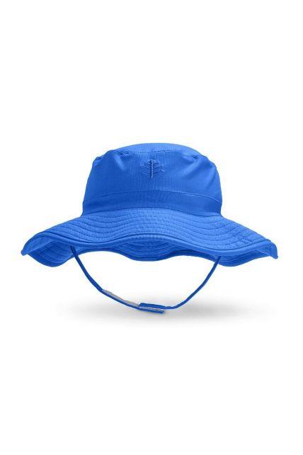 Coolibar---UV-Bucket-Hut-für-Babys---Wasserabweisend---Blau