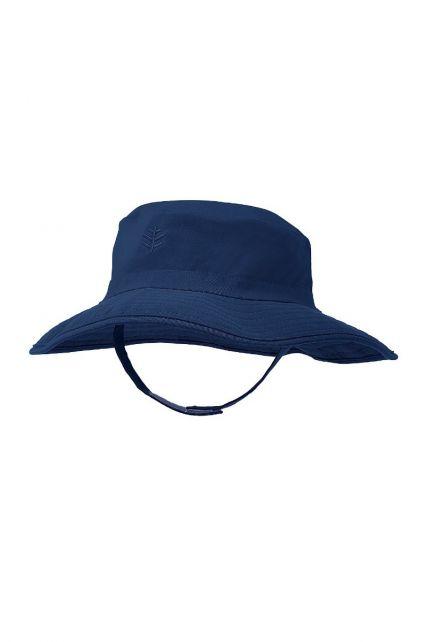 Coolibar---UV-Bucket-Hut-für-Babys---Wasserabweisend---Marineblau