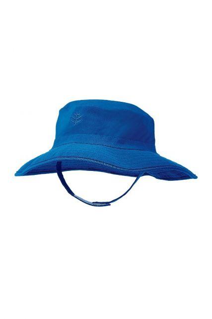 Coolibar---UV-Bucket-Hut-für-Babys---Wasserabweisend---Dunkelblau