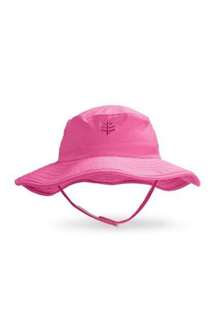 Coolibar---UV-Bucket-Hut-für-Babys---Wasserabweisend---Rosa
