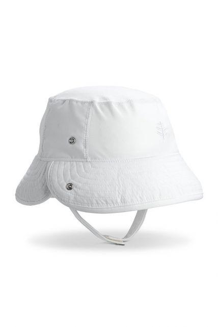 Coolibar---UV-Bucket-Hut-für-Babys---Hochklappbarer-Schirm---Weiß