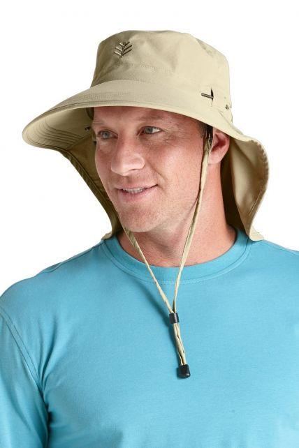 Coolibar---UPF50+-Ultra-Sun-Hut-für-Herren---Beige