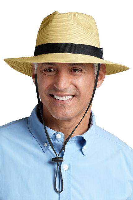 Coolibar---UV-Schutz-Fedora-Herrenhut---beige