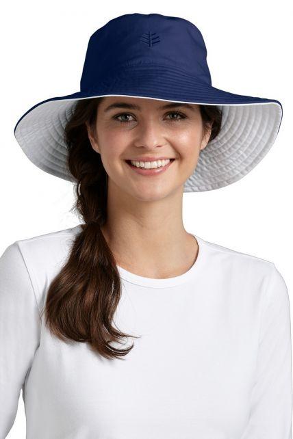 Coolibar---UV-Schutz-Damenhut---Blau