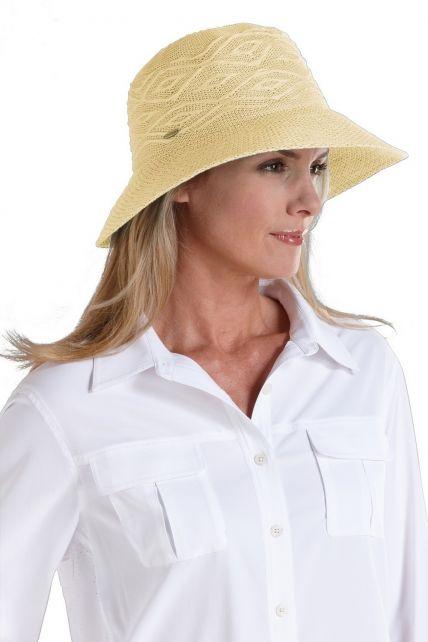 Coolibar---knitterfreier-UV-Damenhut---Beige