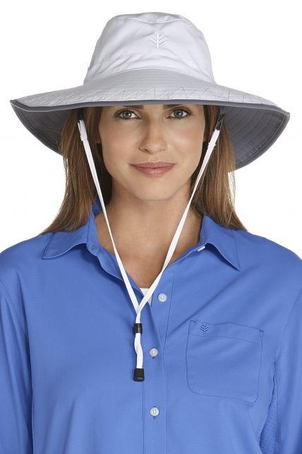 Coolibar---UV-Schutz-Strandhut-für-Damen---Weiß