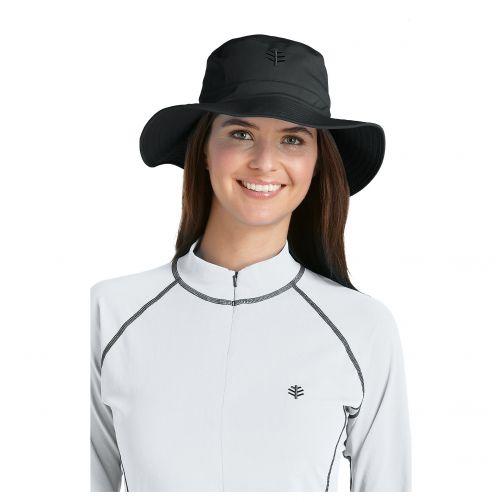 Coolibar---UV-Bucket-Hut-Unisex---Schwarz