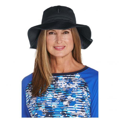 Coolibar---UV-Anglerhut-für-Damen---Schwarz