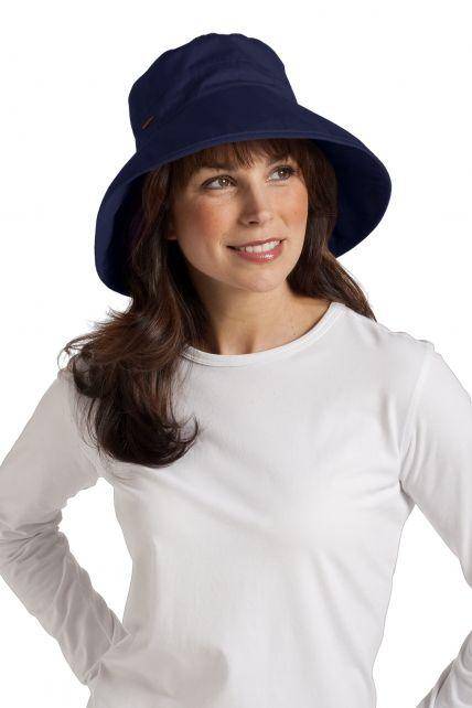 Coolibar---UV-Hut-Damen---blau