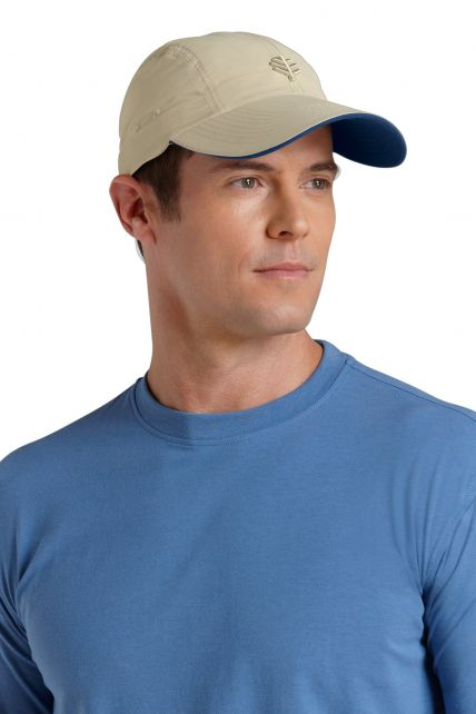 Coolibar---UV-Schutz-Sportkappe-Herren---Beige