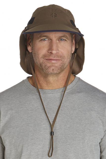 Coolibar---UV-Kopfschutz-Kappe-Herren---kaki