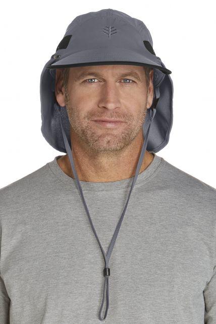 Coolibar---UV-Kopfschutz-Kappe-Herren---grau