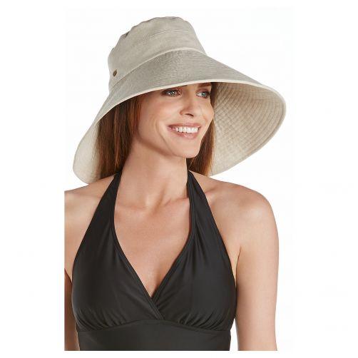 Coolibar---UV-Strandhut-für-Damen-mit-breiter-Krempe---Beige