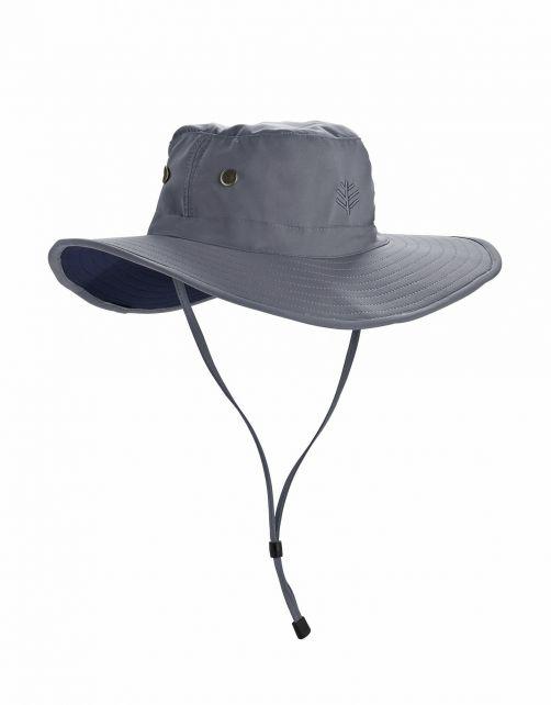 Coolibar---Formbarer-UV-Hut-mit-breiter-Krempe-für-Herren---Leo---Carbon/Schwarz