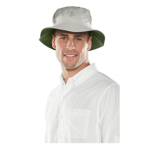 Coolibar---UV-Hut-für-Herren---Wendebar---Steingrau/Olivgrün