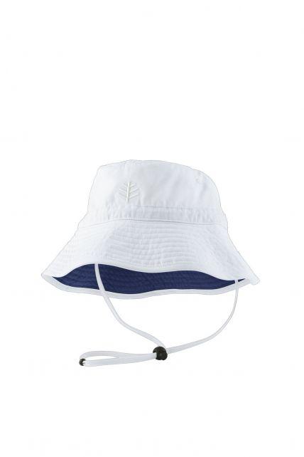 Coolibar---UV-Schutz-Sonnenhut-für-Kinder---Weiß