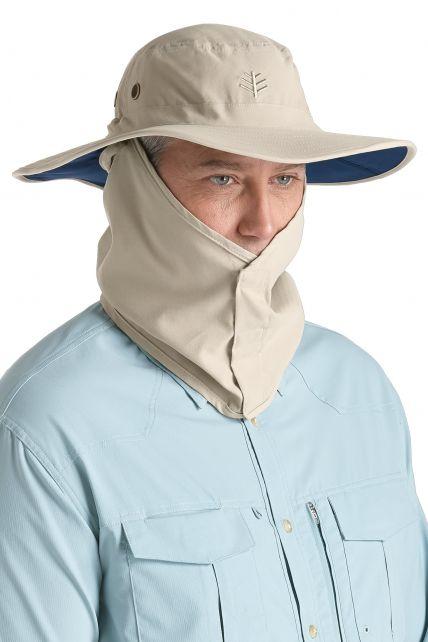Coolibar---UV-Schutz-Hut-für-Herren---Grau/Blau