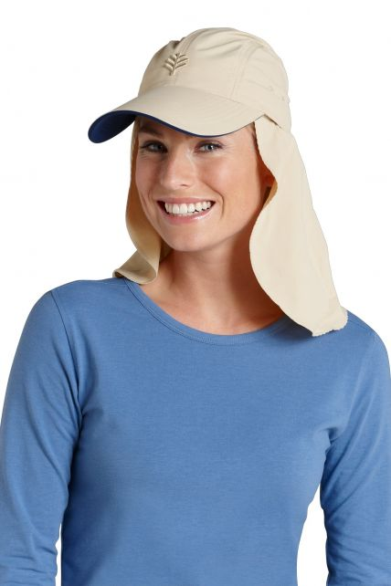 Coolibar---UV-Schutz-Sportkappe-Herren---Grau