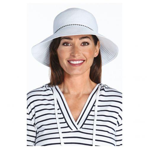 Coolibar---UV-Bucket-Hut-für-Damen---Weiß