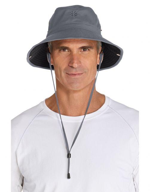 Coolibar---Federleichter-UV-Bucket-Hut-für-Herren---Chase---Carbon/Schwarz