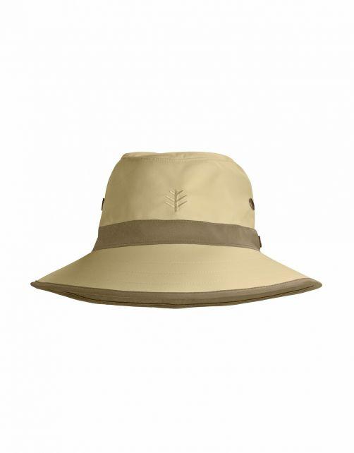 Coolibar---UV-Golfhut-mit-breiter-Krempe-für-Erwachsene---Matchplay---Tan/Khaki