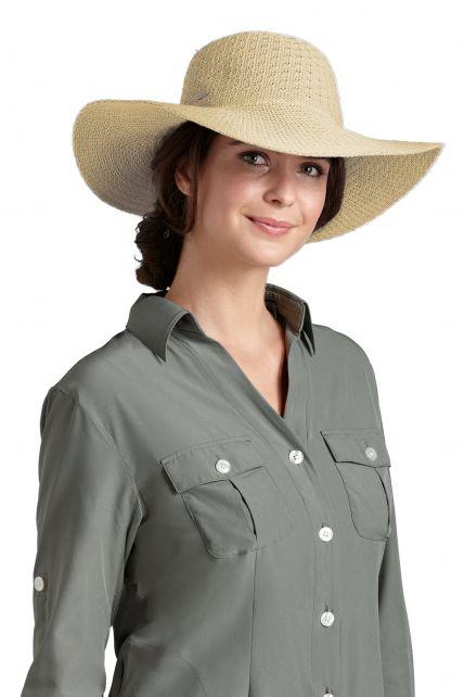 Coolibar--UV-Sonnenhut-für-Damen--Beige