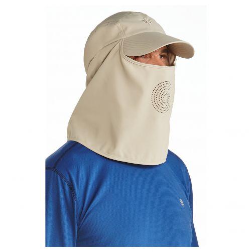 Coolibar---UV-Sportkappe-mit-Nacken--und-Gesichtsschutz-für-Herren---Logan---Beige