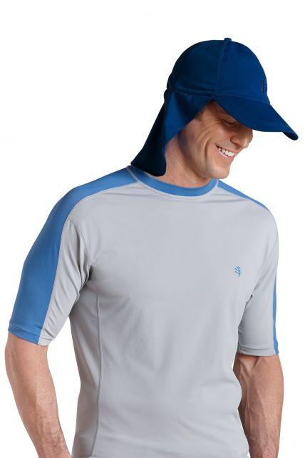 Coolibar---UV-Schutz-Kappe-Unisex---Blau