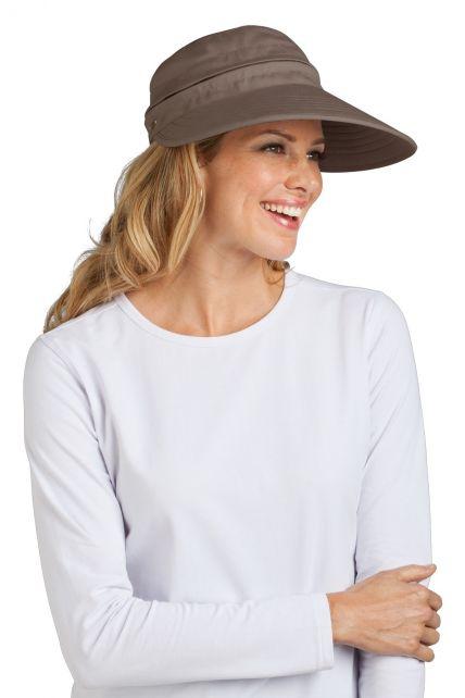 Coolibar---UV-Damen-Sonnenschild-und-Kappe-in-einem---Champignon