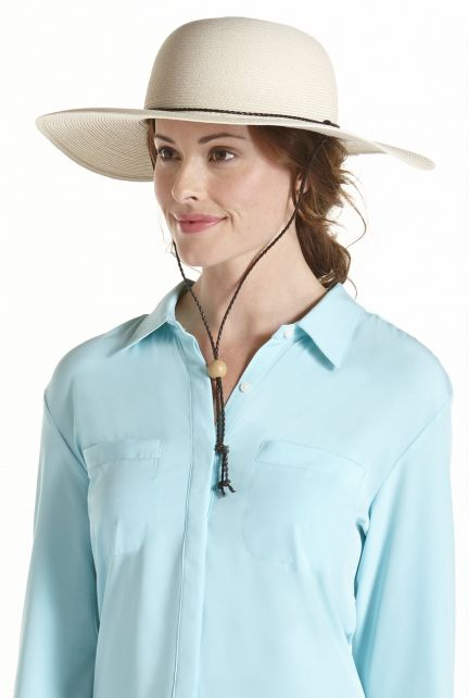 Coolibar---UV-Schutz-Damen-Sonnenhut---Elfenbein