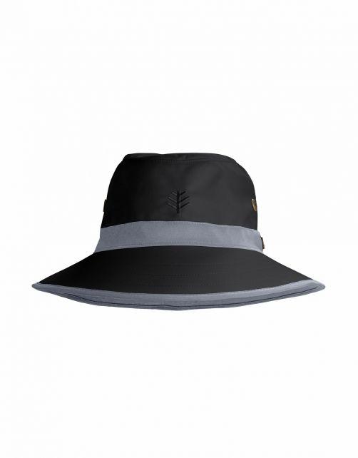Coolibar---UV-Golfhut-mit-breiter-Krempe-für-Erwachsene---Matchplay---Schwarz/Carbon