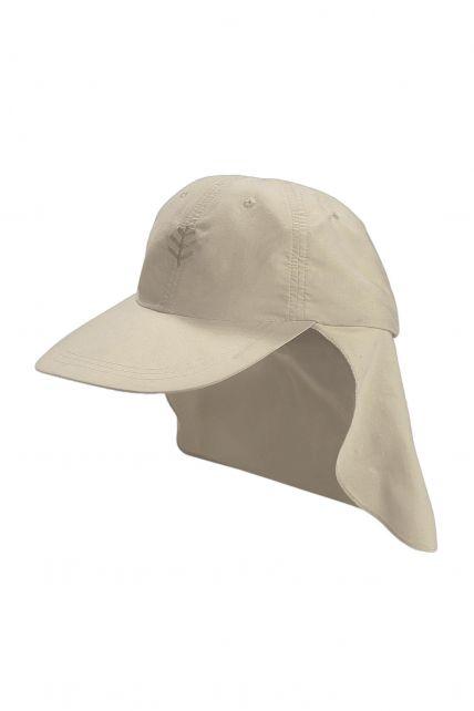 Coolibar---UV-Schutz-Sport-Sonnenhut-für-Kinder---Grau