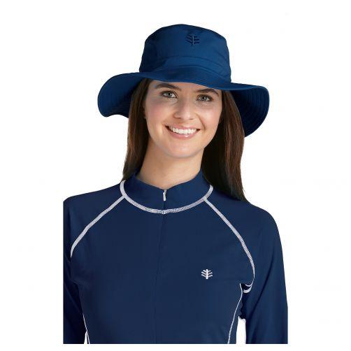 Coolibar---UV-Bucket-Hut-Unisex---Marineblau