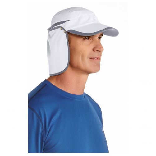 Coolibar---UV-Sonnenkappe-unisex---Weiß-/-Grau
