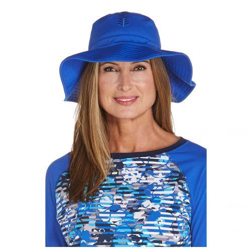 Coolibar---UV-Anglerhut-für-Damen---Vintage-Blau