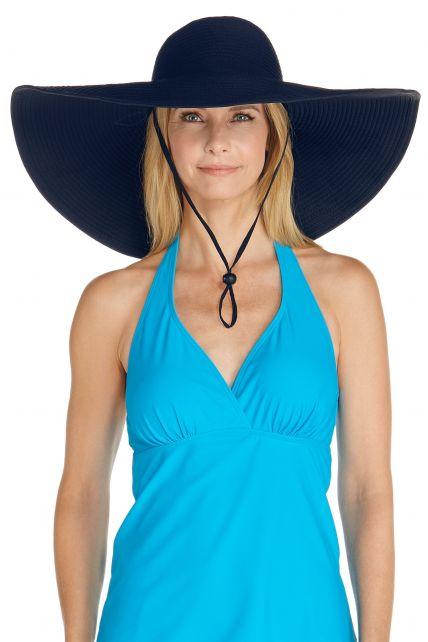 Coolibar---XL-UV-Schlapphut-für-Damen---Dunkelblau