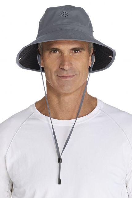 Coolibar---UV-Schutz-Hut-für-Herren---Grau