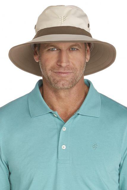 Coolibar---UV-Schutz-Hut-für-Herren---Beige