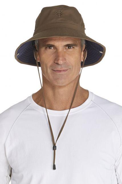 Coolibar---UV-Schutz-Hut-für-Herren---Braun