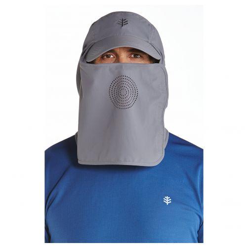 Coolibar---UV-Sportkappe-mit-Nacken--und-Gesichtsschutz-für-Herren---Logan---Carbon