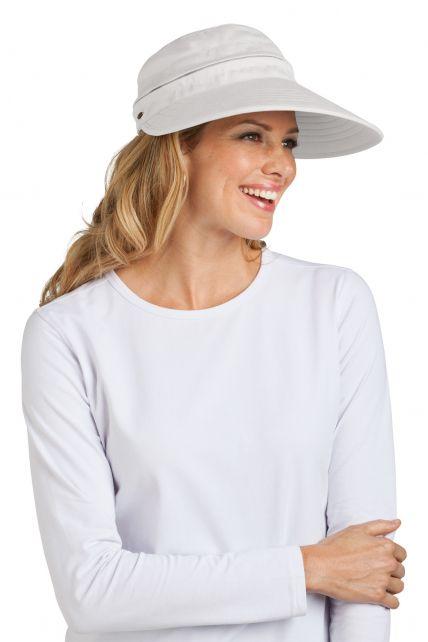 Coolibar---UV-Damen-Sonnenschild-und-Kappe-in-einem---Weiß