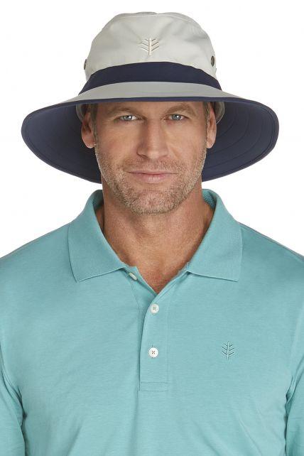 Coolibar---UV-Schutz-Hut-für-Herren---Grau-