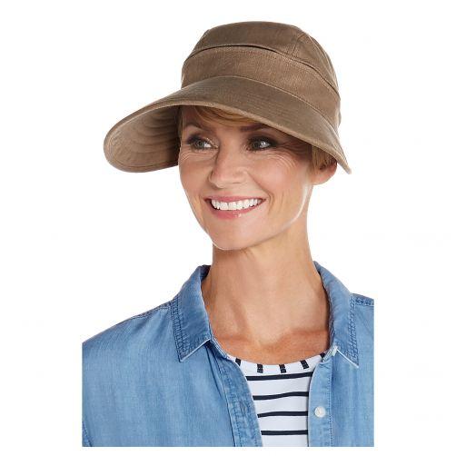 Coolibar---Multifuntionelle-UV-Sonnekappe-für-Damen---Braun