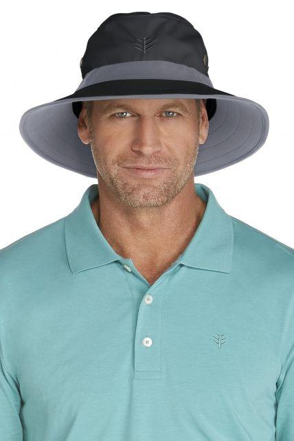 Coolibar---UV-Schutz-Hut-für-Herren---Schwarz-